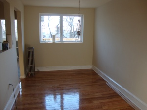 Vacant dining room before staging
