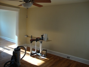 Vacant living room before staging