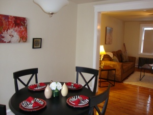 Dining room staged