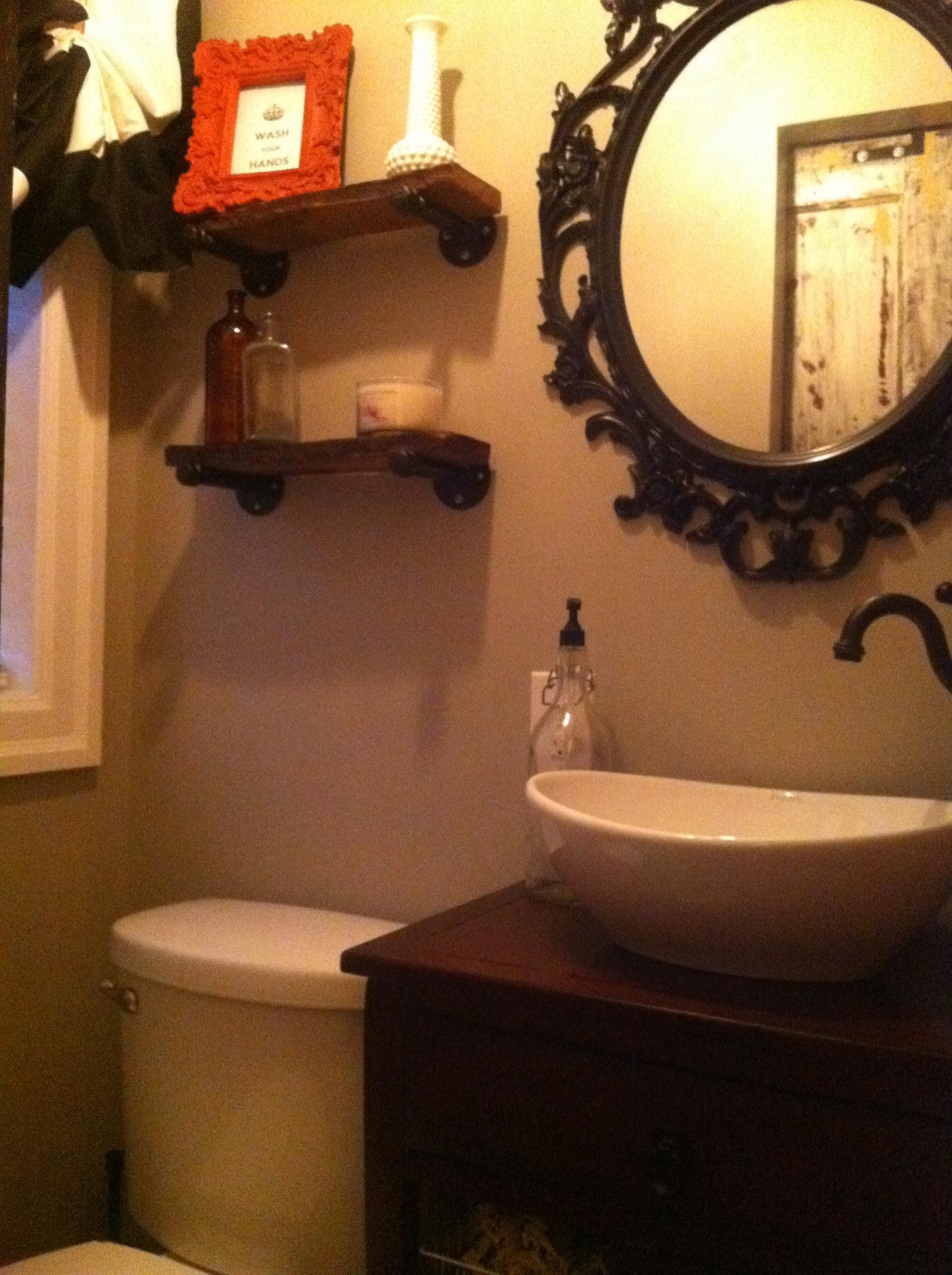 Beautiful Bathroom Mirror Circle Small Bathroom Mirrors Frameless Flat Apartment Bathroom Renovation 48 White Bathroom Vanity Cabinet Youthful Average Price Small Bathroom RedBathtub Drain Smells 2 Bath | The Staging Chick