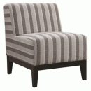Oversized Neutral Stripe Accent Chair